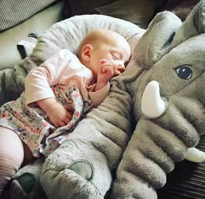 Giant Colorful Elephant Baby Pillow