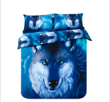 3d wolf bed sheets  100% Organic Cotton