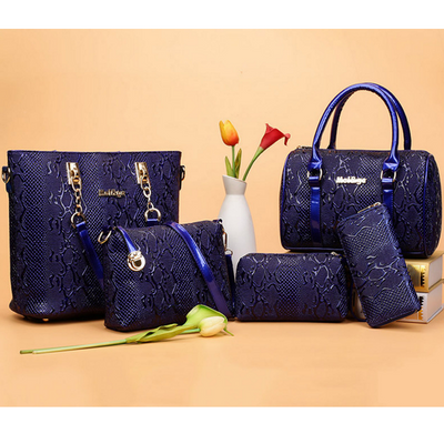 2017 New Fashion Women Blue Police Handbag Set