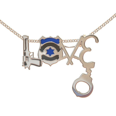 HOT SELLING POLICE STERLING SILVER LOVE NECKLACE