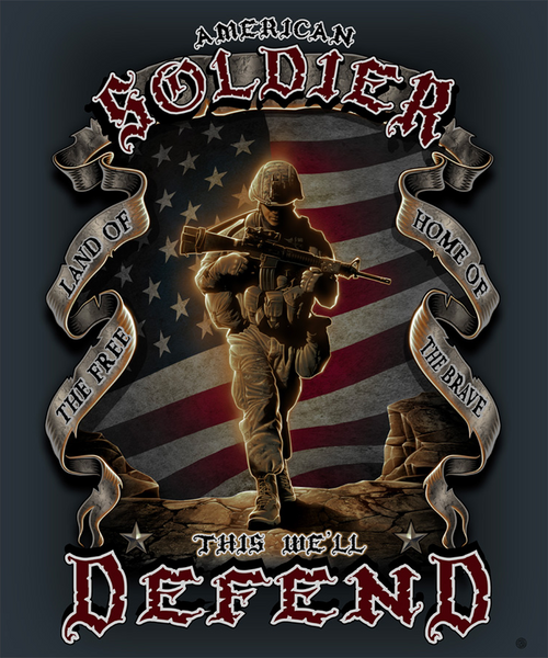 AMERICAN SOLDIER THROW BLANKET