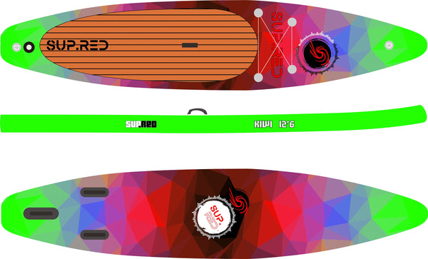 SUP.RED 12'6 Kiwi Paddleboard
