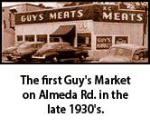 The first Guy's Market on Almeda Rd. Houston, Texas, in the late 30's.