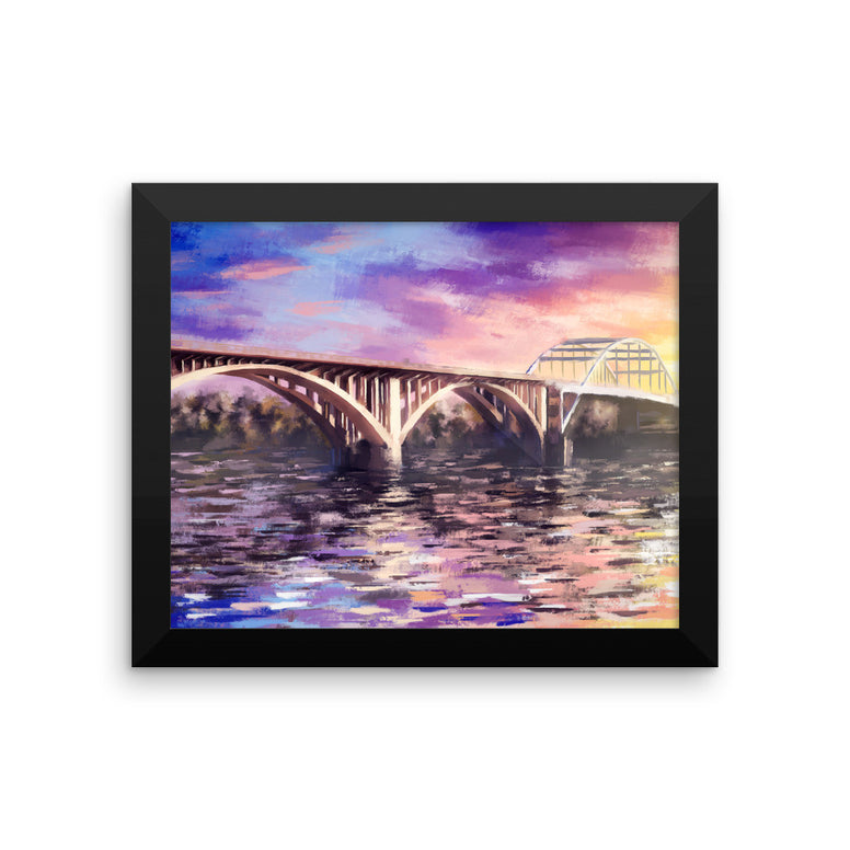 Broadway Bridge Framed poster
