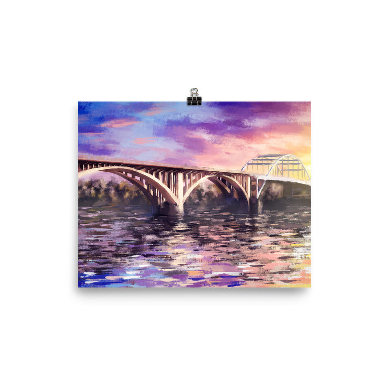 Broadway Bridge Photo paper poster