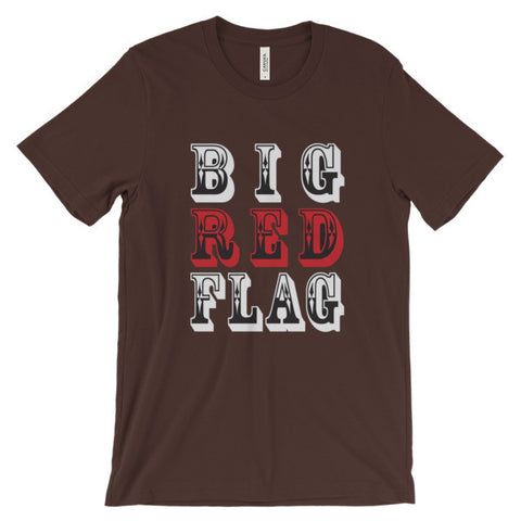Big Red Flag short sleeve t-shirt