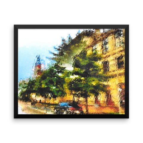 PH Rainy Day City Framed photo paper poster