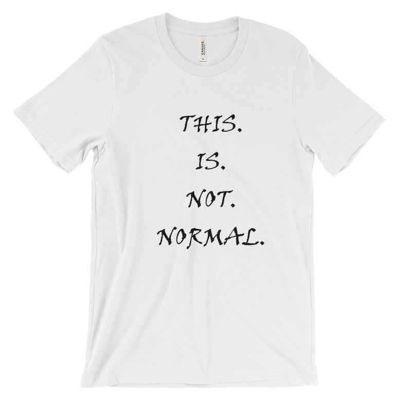 This Is Not Normal short sleeve t-shirt (Black)
