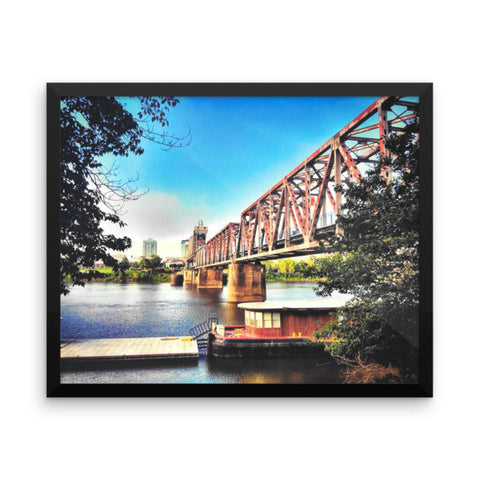 PH River Bridge Framed photo paper poster