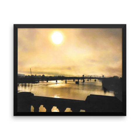 PH River Morning Framed photo paper poster