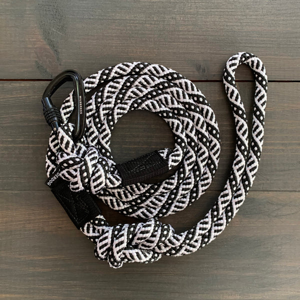 Black and White Small Carabiner Leash