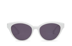 prima white cateye sunglass