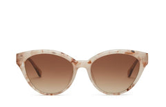 prima petal cateye nude brown sunglass