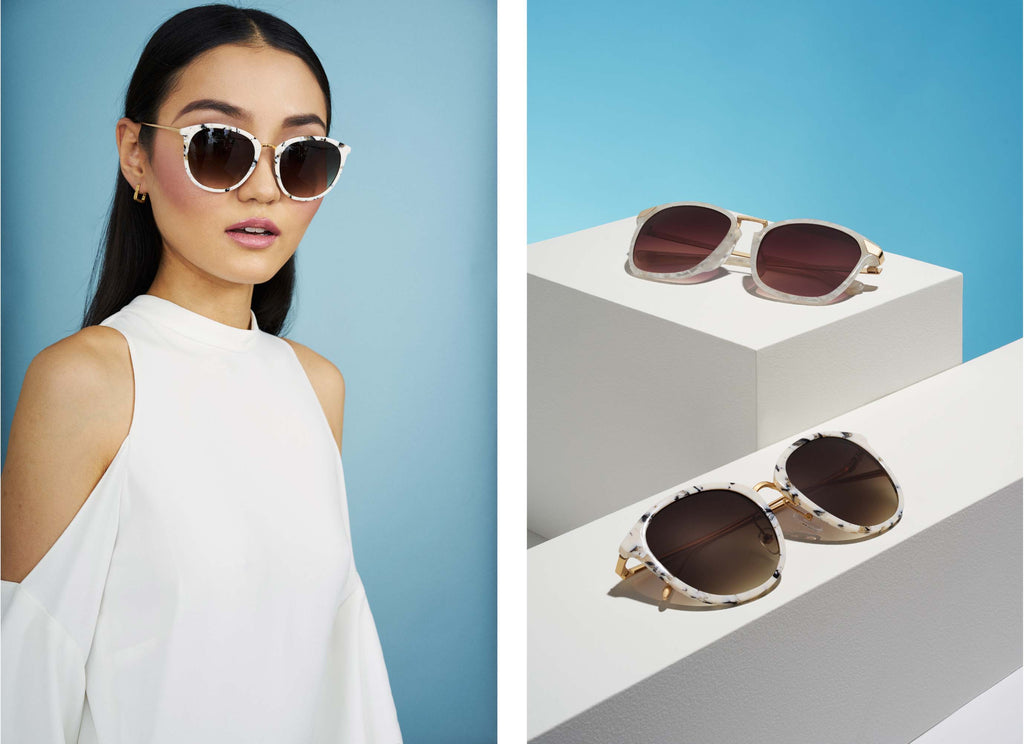 sunglass-white-marble-summer