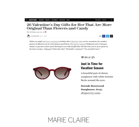 covry sunglasses in marie claire