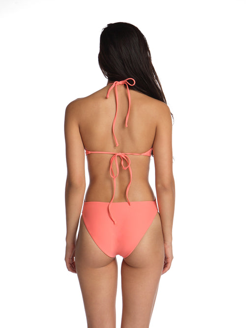 Black Box Swim Gwen high neck cut out swimsuit one piece in Brunch coral