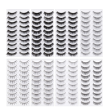 80 Pairs Natural Fake Eyelashes 8-Style Set