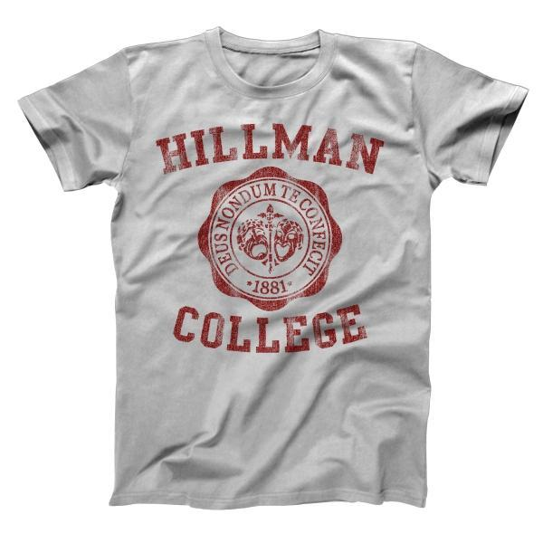 Hillman College Seal Maroon Men's T-Shirt