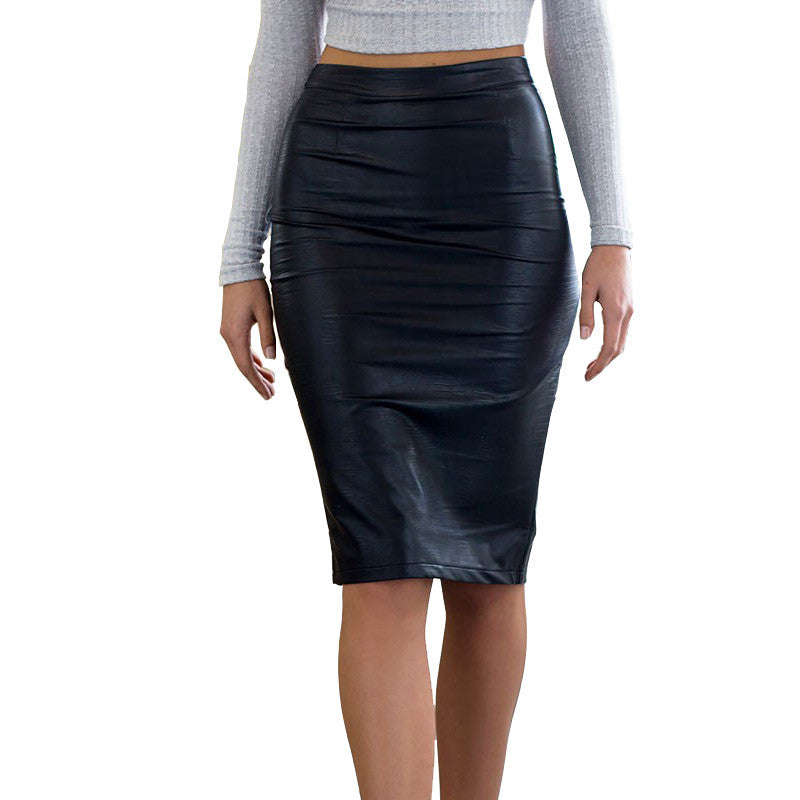 Faux Leather Sexy Pencil Skirt - Sassy Posh - 1