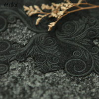 Artka Wool Embroidered Drop-Shoulder Cloak