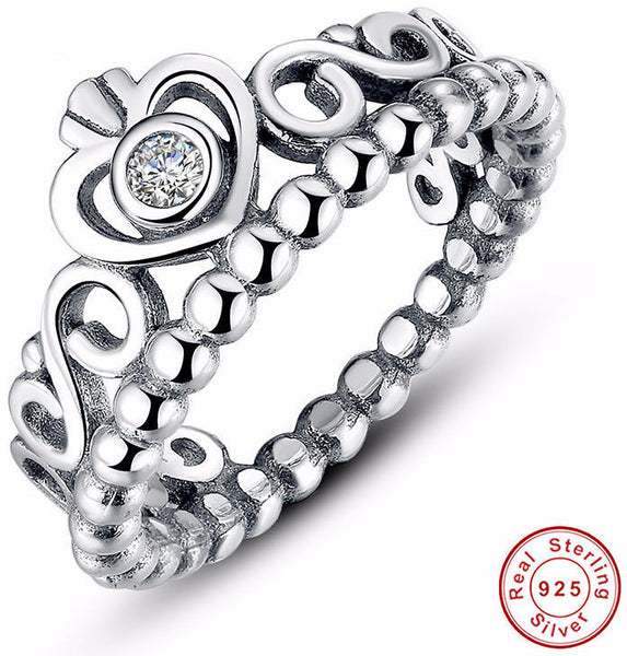 925 Sterling Silver Crown Stackable Ring - Sassy Posh - 1