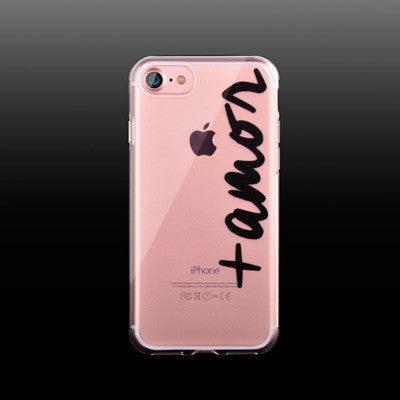 Case For iPhone 7 Transparent TPU Soft Cover For iPhone7 Plus 6 6S 5S Clear Silicone Rubber - Sassy Posh - 3