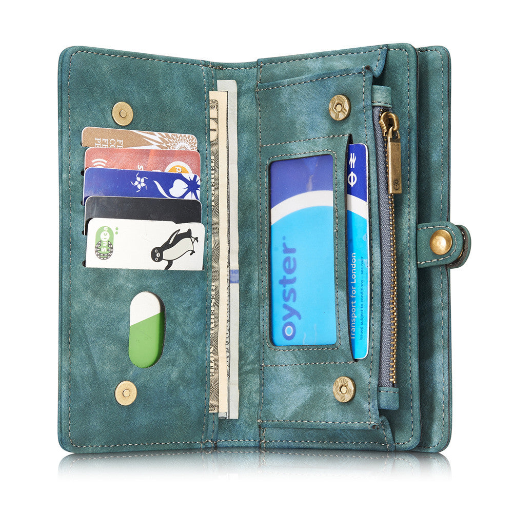 iPhone 7 Plus Case 7Plus Retro Leather Cover Zipper Wallet - Sassy Posh - 3