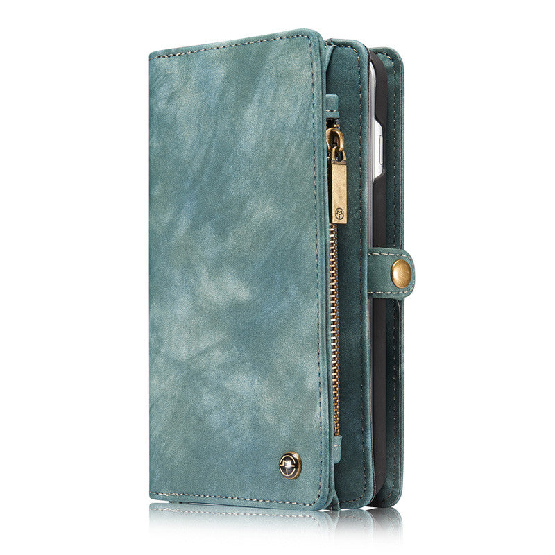 iPhone 7 Plus Case 7Plus Retro Leather Cover Zipper Wallet