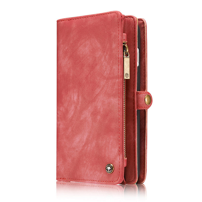iPhone 7 Plus Case 7Plus Retro Leather Cover Zipper Wallet - Sassy Posh - 6