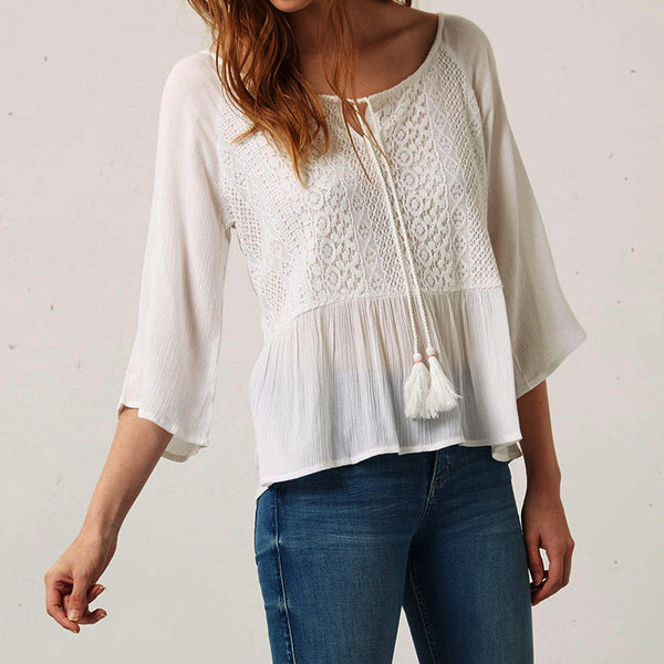 Chiffon Lace Blouse -extended Sizes!