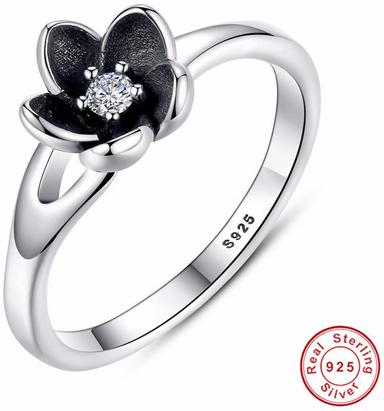 925 Sterling Silver Flower Stackable Ring - Sassy Posh - 1