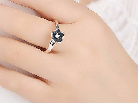 925 Sterling Silver Flower Stackable Ring - Sassy Posh - 2