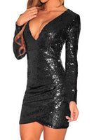 Long Sleeve Sequin Mini Dress