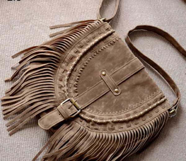 Fringed Suede Bohemian Cross body  Bag - Sassy Posh - 1