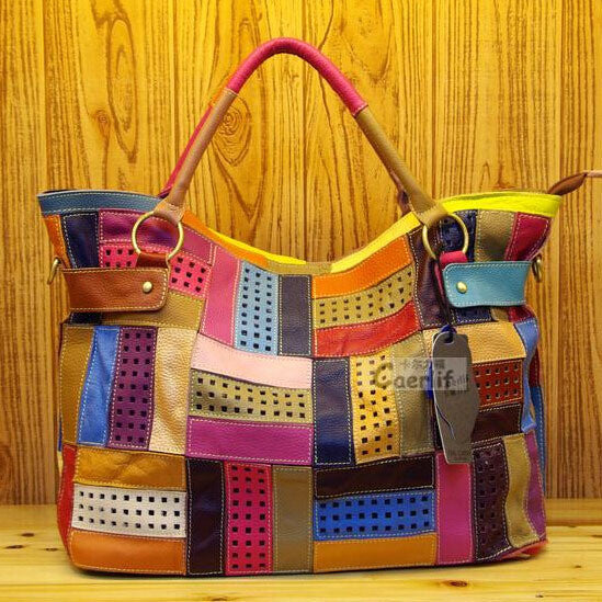 Leather Patchwork Handbag