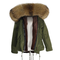 Raccoon Fur Winter Coat