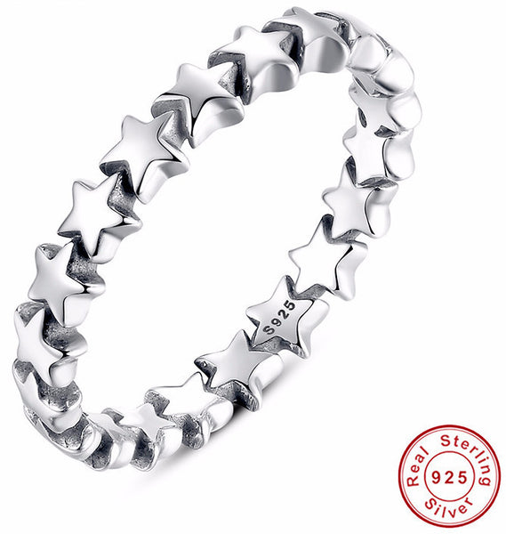Stackable Ring 100% 925 Sterling Silver - Sassy Posh - 1