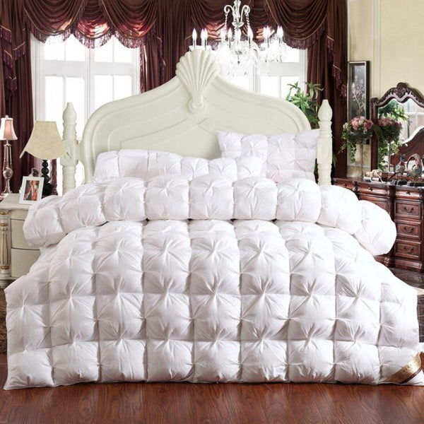 Pinch Pleat goose down Comforter