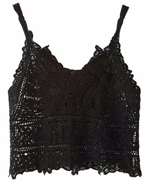 Crochet Lace Cropped Camisole