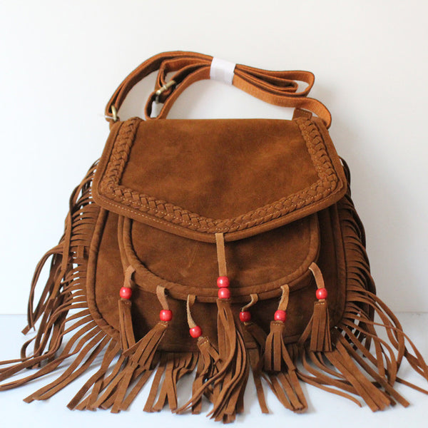 Bohemian Fringed Messenger Bag - Sassy Posh - 1