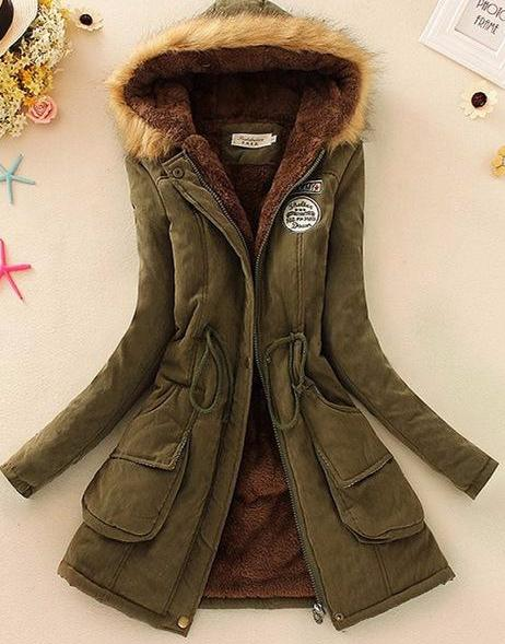 Fur Collar Long Parka- Extended Sizes!