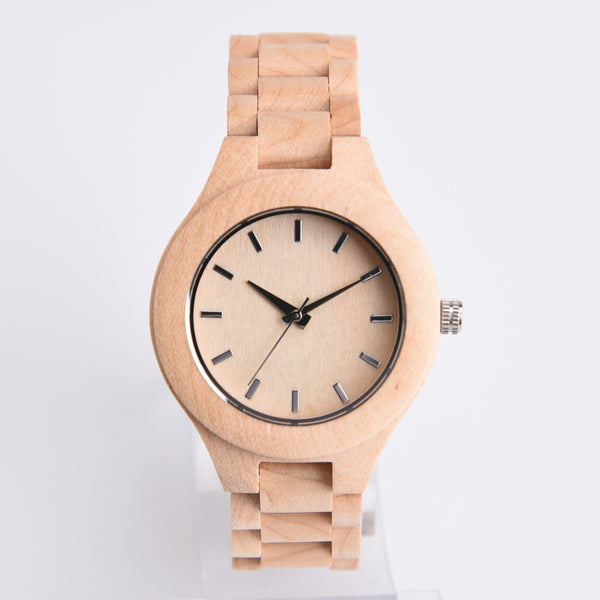 Exclusive ALL Wood Maple Watch - Sassy Posh - 2