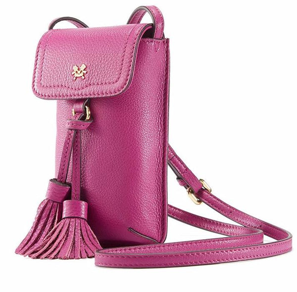 Leather Tassel Phone Bag