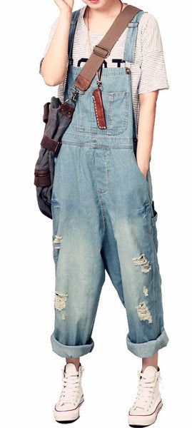 Roomy Denim Overalls - Sassy Posh - 1