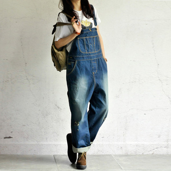 Roomy Denim Overalls - Sassy Posh - 11
