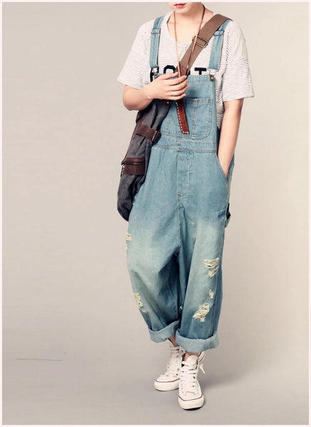 Roomy Denim Overalls - Sassy Posh - 10