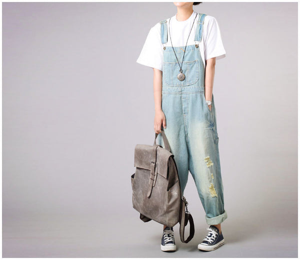 Roomy Denim Overalls - Sassy Posh - 3