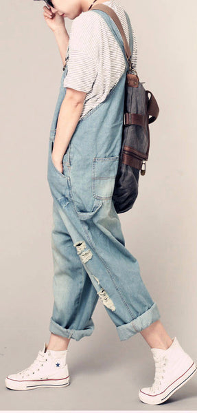 Roomy Denim Overalls - Sassy Posh - 7