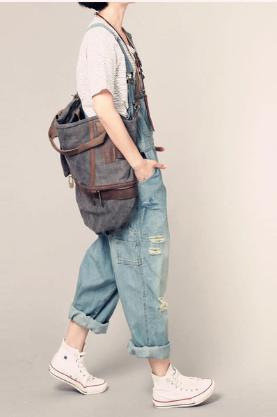 Roomy Denim Overalls - Sassy Posh - 6