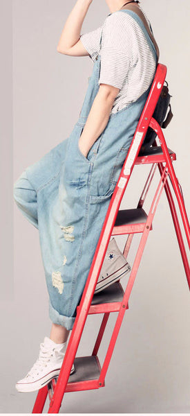 Roomy Denim Overalls - Sassy Posh - 2